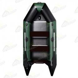 Лодка моторная килевая AquaStar D-275 зеленая