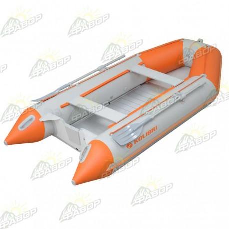 Лодка моторная Колибри КМ-330D светло-серая